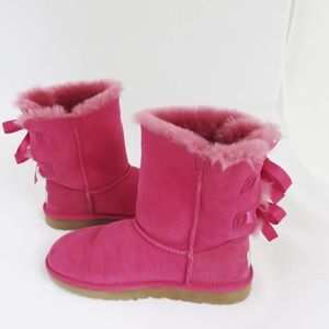 UGG Bailey Bow Boots Sz 5 in Pink